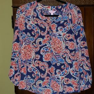 Lilly Pulitzer Elsa Silk Top- Just for the Halibut